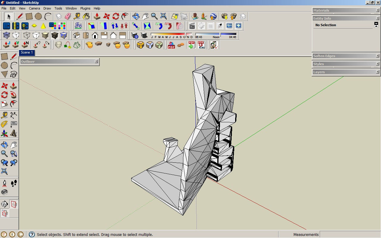 Remeshing in sketchup tutorial repper 39 s delight for How to import stl into sketchup